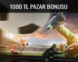 Trbet pazar günleri 1000 TL bonus veriyor