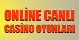 Online canlı casino oyunları